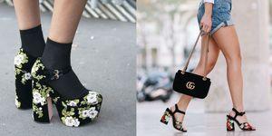 I ricami sono una grande hit di stagione: perchè non scegliere di indossarli solo gli accessori che contano veramente, cioè le scarpe? I modelli su cui si sposano davvero sono i sandali tacco largo.