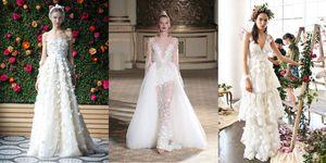 abiti da sposa floreali passerelle 2018