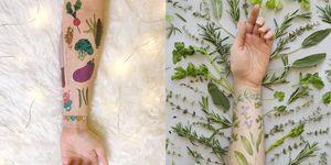 tattoo botanici temporanei