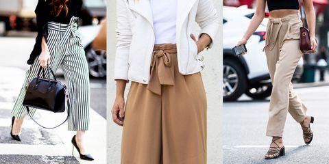 nessuna tassa di vendita prezzo più economico di alta qualità Abbinamenti paper bag trousers, i pantaloni a sacchetto con cintura