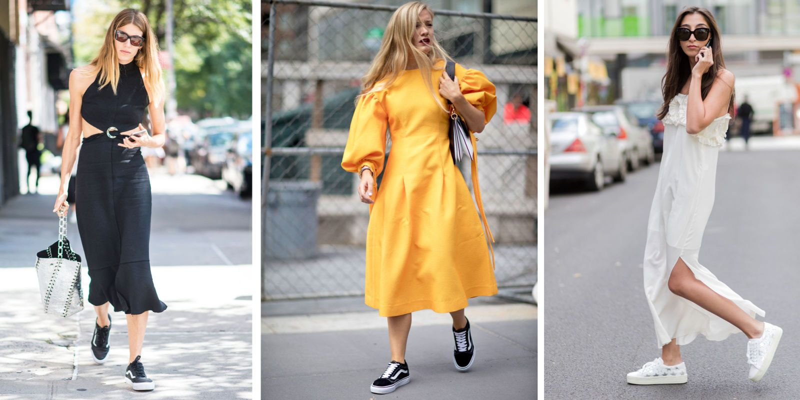 Come abbinare le sneakers ad abiti eleganti lunghi, corti