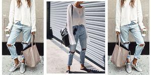 I jeans boyfriend strappati sono l'ultima tendenza in fatto di moda ecco come si indossano e a chi stanno bene e quali sono gli abbinamenti più glam per l'estate 2017.