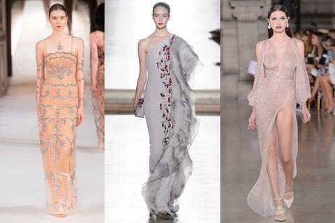 82e2fae95720 Vestiti bellissimi  cipria e grigio perla. Guarda le immagini degli abiti da  sera di alta moda ...
