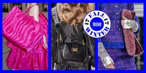 Le tendenze moda per le borse del prossimo autunno inverno 2017-2018 sono tantissime: noi ne abbiamo scelte 11, le più cosmo di tutte, a partire dal formato XL di borsoni maxi per passare alle tracolle compatte e le clutch a busta piatta.
