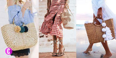 317386a6b8 Le borse di paglia sono borse estive, sono capienti, esotiche e super folk: