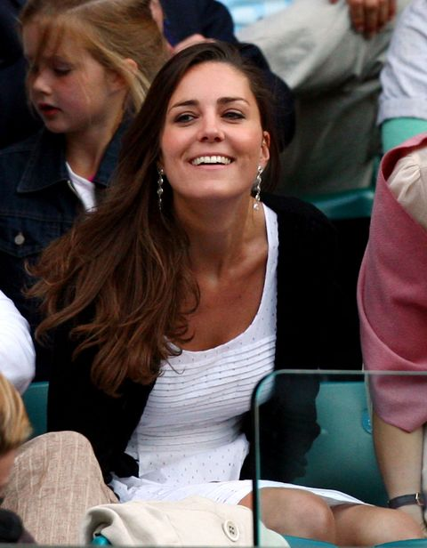 LONDON - JUNE 28:  Prince William's girlfriend Kate Middleton attends day six of the Wimbledon Lawn Tennis Championships at the All England Lawn Tennis and Croquet Club on June 28, 2008 in London, England.  (Photo by Ryan Pierse/Getty Images)