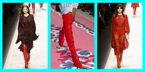 Gli stivali alti rossi sono il tuo prossimo paio di stivali sopra il  ginocchio del desiderio a386c316841