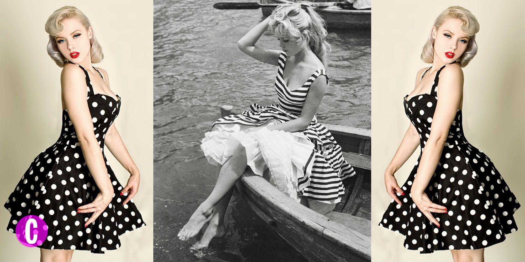 Abbigliamento anni 50 da sera  14 idee moda glam bf2bcd95839
