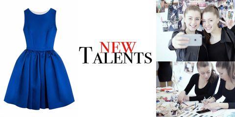 Human, Sleeve, Dress, Style, One-piece garment, Formal wear, Electric blue, Single-lens reflex camera, Camera, Lens,
