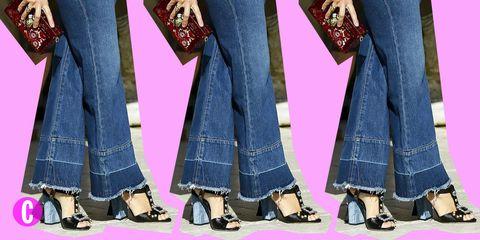 cf3ebcf1697014 I pantaloni a zampa di jeans sono un grande classico che non conosce  stagioni: ma