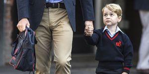 principe George primo giorno scuola