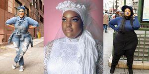 leah vernon fashion blogger nera musulmana e curvy