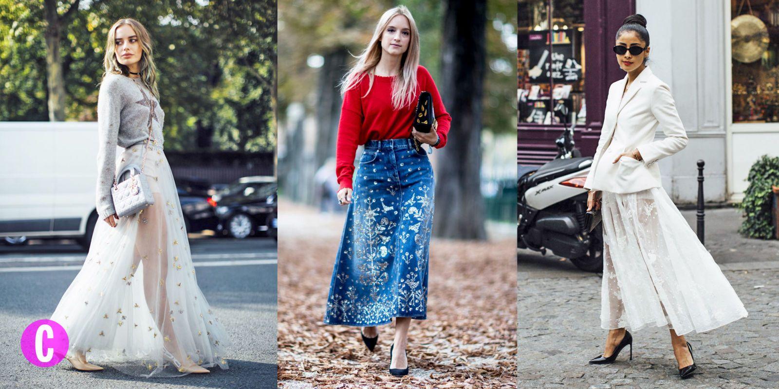 Gonna lunga inverno 2018: le tendenze moda da copiare