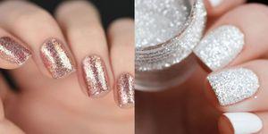glitter nail art colori