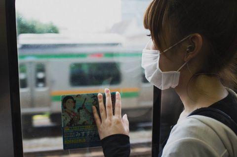 Finger, Public transport, Transparent material, Earrings, Bracelet, Gesture,