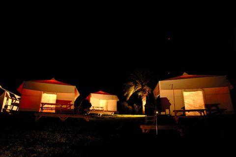 初島テントヴィラ夜