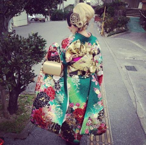 Street fashion, Toy, Pattern, Kimono,