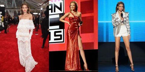 ジジ・ハディッドの「AMAファッション」一挙振り返り!