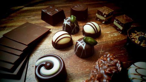 並べられたチョコレート
