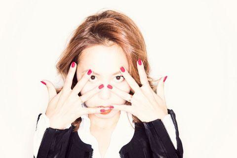 Finger, Lip, Skin, Eyelash, Nail, Gesture, Makeover, Cosmetics, Lip gloss, Body jewelry,