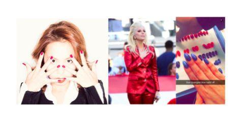 Hairstyle, Organ, Magenta, Eyelash, Violet, Electric blue, Maroon, Street fashion, Hair coloring, Makeover,