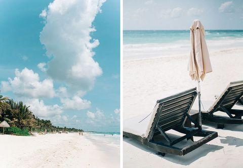 <p>以前メキシコのトゥルムを旅行で訪れた2人は、その思い出の場所でリゾート婚をすることを即決。 結婚式のコンセプトを決める際も、海と砂浜に囲まれた美しいビーチでの家族や親しい人だけに囲まれた式、カリブ海の星の下のダンスパーティーと、自然にアイディアがまとまっていったのだとか。</p>