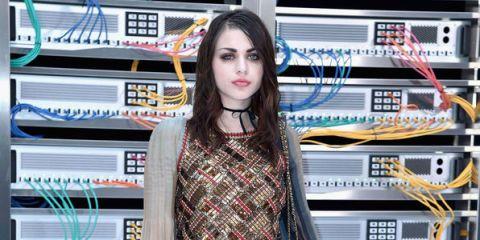 Eyelash, Collar, Street fashion, Technology, Long hair, Jewellery, Electronics, Electrical wiring, Plaid, Electricity,