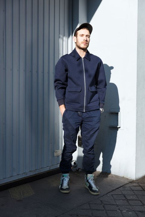 Clothing, Sleeve, Shoe, Collar, Standing, Jacket, Street fashion, Pocket, Sneakers, Outdoor shoe,