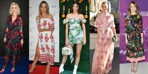 Clothing, Dress, Red, Flooring, Pattern, Style, Formal wear, One-piece garment, Fashion, Day dress,
