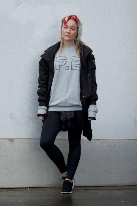White, Clothing, Fashion, Black, Beanie, Jacket, Fashion model, Street fashion, Outerwear, Snapshot,