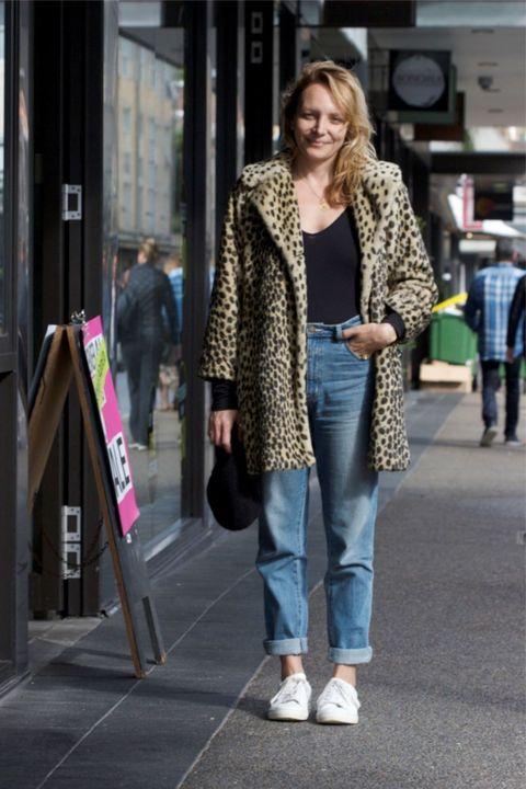 Clothing, Street fashion, Photograph, Fashion, Jeans, Snapshot, Outerwear, Fur, Footwear, Coat,