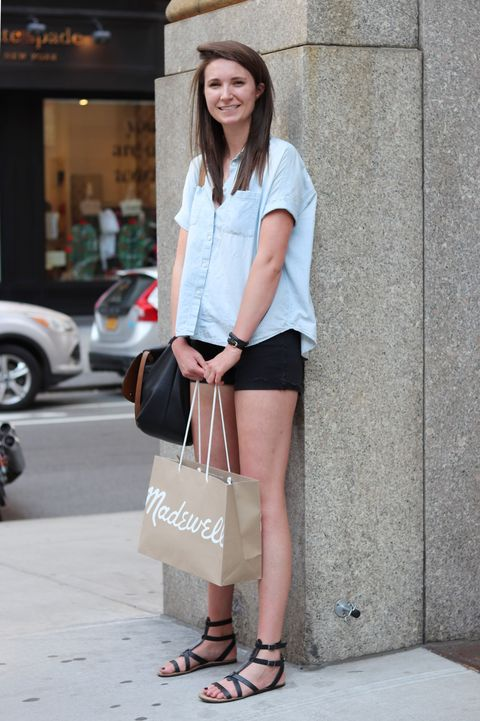 Clothing, Sleeve, Human leg, Shoulder, Joint, Shoe, Outerwear, Bag, Style, Street fashion,