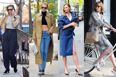 カーリーのグッドガールなスタイリングに欠かせないのが、トレンチコート。トラディショナルなバーバリーのミディトレンチからバレンシアガのモードなマキシ丈トレンチ、デニム素材、パイソン柄といった変化球デザインまでも網羅。ワイドパンツやツートーンデニムをコーディネートしたエフォートレスな雰囲気からコートドレスのようなフェミニンな着こなしまで、デザインによって七変化させて、いつだって鮮度の高いグッドガールをキープ!