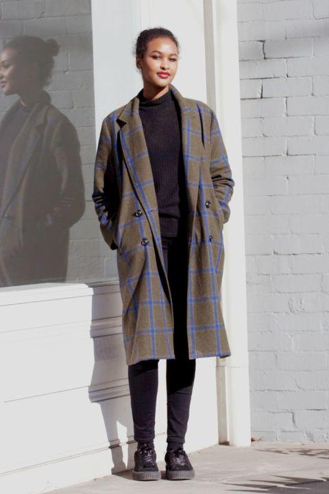 Fashion, Clothing, Fashion show, Runway, Fashion model, Outerwear, Overcoat, Street fashion, Fashion design, Coat,