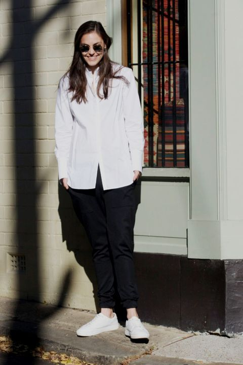 White, Clothing, Photograph, Street fashion, Fashion, Footwear, Snapshot, Jeans, Shirt, Shoe,