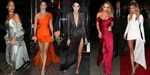 Clothing, Fashion model, Fashion, Dress, Orange, Event, Leg, Shoulder, Haute couture, Formal wear,