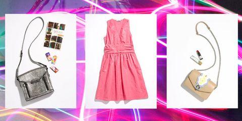 Clothing, Pink, White, Dress, Outerwear, Day dress, Magenta, Fashion design, Pattern,