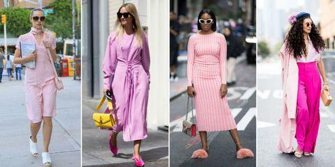 Clothing, Pink, Street fashion, Fashion, Dress, Footwear, Shoe, Magenta, Sandal, Style,