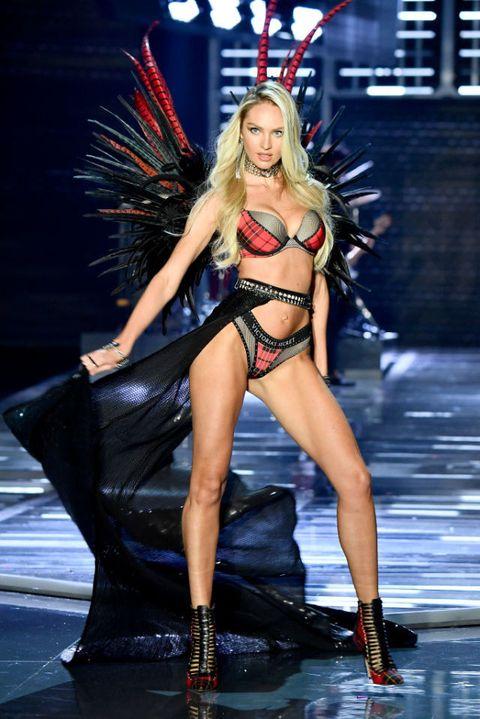 Fashion model, Fashion show, Fashion, Clothing, Runway, Model, Bikini, Thigh, Muscle, Lingerie,