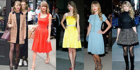 Clothing, Fashion model, Fashion, Dress, Yellow, Street fashion, Footwear, Event, Leg, Fashion design,