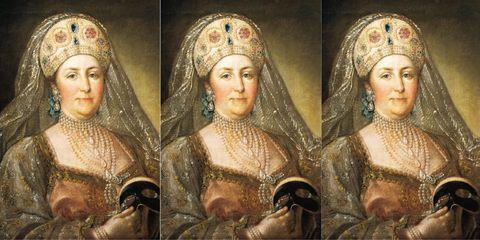 Head, Headpiece, Art, Painting, Headgear, Middle ages, Portrait, Mythology, History, Monarch,