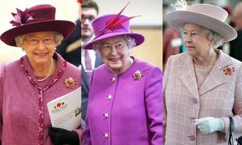 エリザベス女王の、お気に入りブローチを使ったコーデ8
