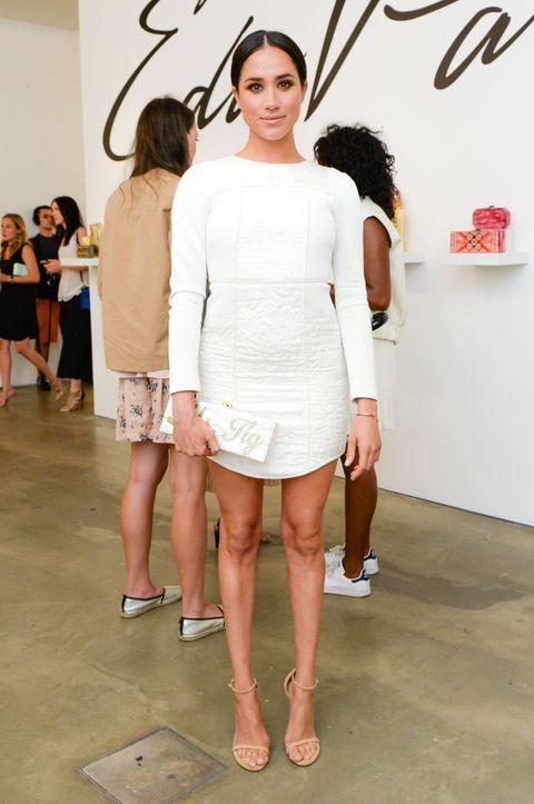 White, Fashion, Fashion model, Clothing, Shoulder, Fashion show, Beauty, Runway, Fashion design, Dress,