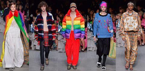 Fashion, Fashion show, Runway, Event, Street fashion, Fashion design, Human, Fun, Headgear, Fashion model,