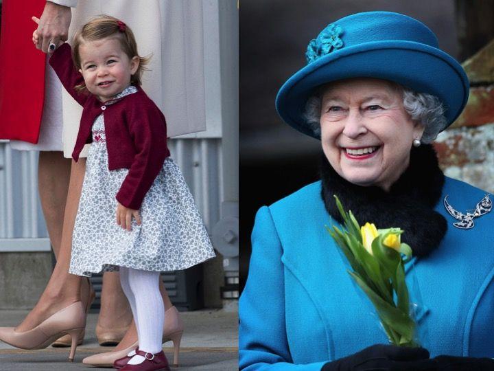 女王とシャーロット王女