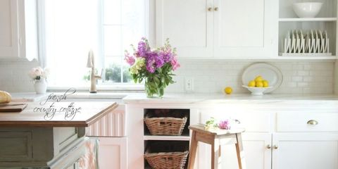 California French Country Style Cottage House Tour Elegant Decorating Ideas,How To Whitewash Paneling With Paint