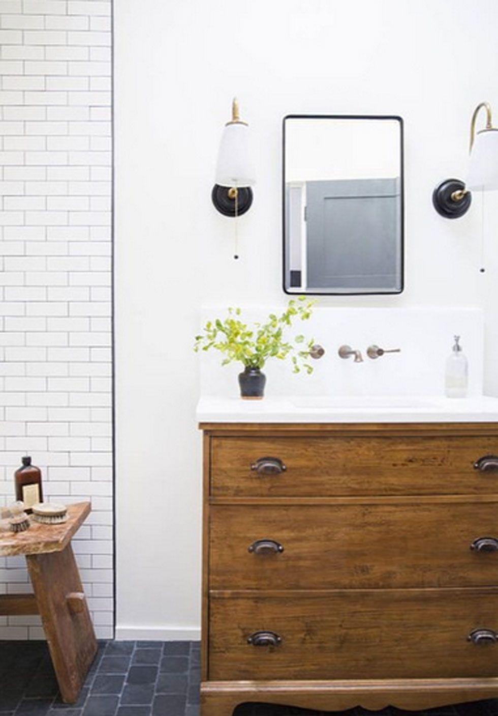 Dresser Into A Bathroom Vanity, Dresser Made Into Bathroom Vanity