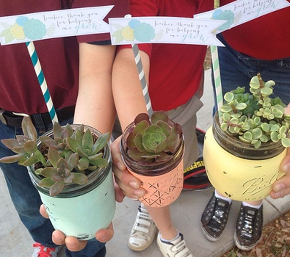 Diy Mother S Day Gift Idea How To Plant Succulents In A Jar