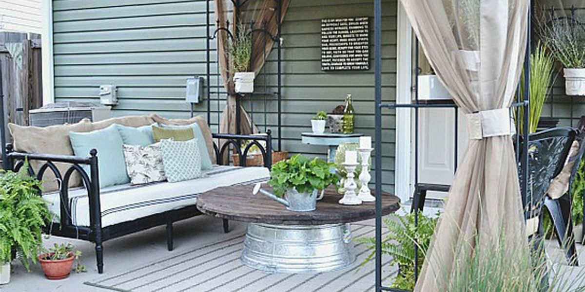 liz marie blog patio before and after patio decorating ideas. Black Bedroom Furniture Sets. Home Design Ideas