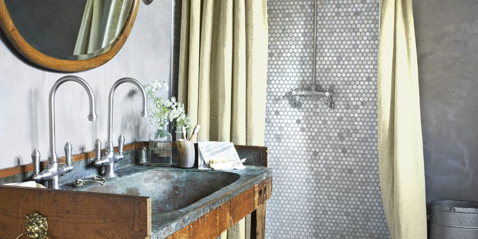 Use Our Rustic Bathroom Decor Ideas To Give Your Bathroom A Relaxed  Flea Market Feel.